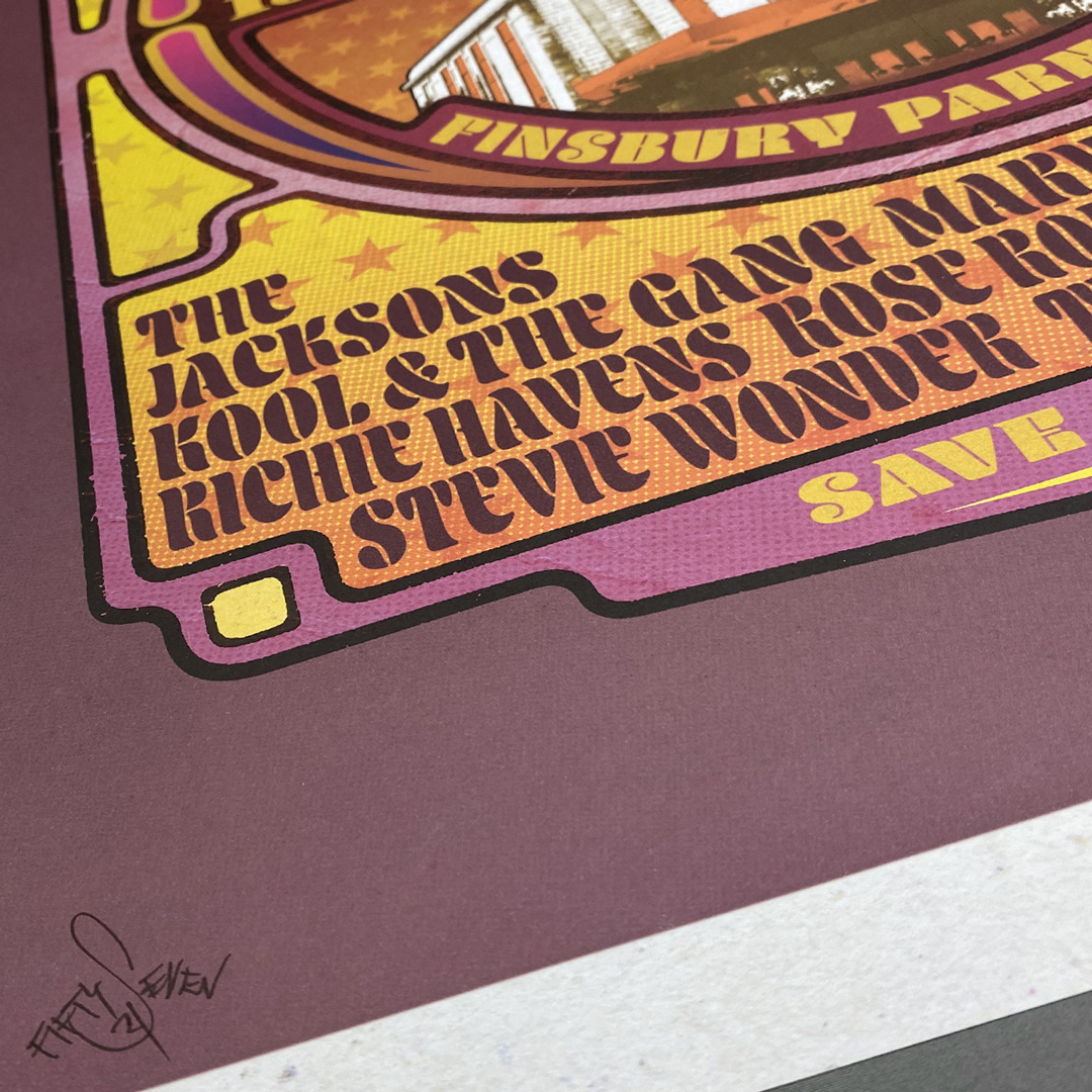 Close up of 'Rainbow Soul', a limited edition soul poster print