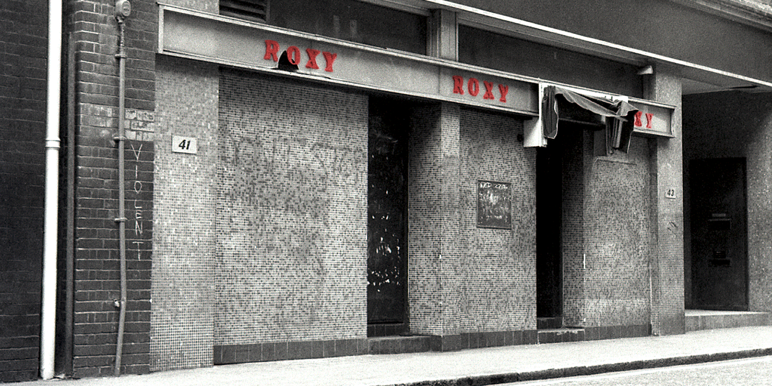 Photo of The Roxy club, an iconic music venue in London in the 70s